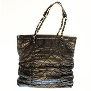 Chanel Sharpei Quilted Ruche Bag